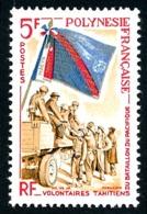 POLYNESIE 1964 - Yv. 29 *   Cote= 12,70 EUR - Volontaires Du Bataillon Du Pacifique  ..Réf.POL24304 - Polynésie Française