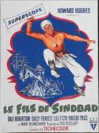"""CINEMA - Affichette Du Film """" LE FILS De SINDBAD """" Réalisé Par Ted Tetzlaff Avec Dale Robertson ,Sorti En 1955 - TBE - Manifesti & Poster"""