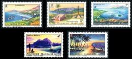 POLYNESIE 1964 - Yv. 30 31 32 33 34 **   Cote= 28,00 EUR - Paysages De Polynésie Française (5 Val.)  ..Réf.POL24305 - Polynésie Française