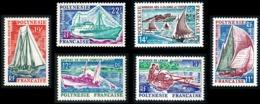POLYNESIE 1966 - Yv. 36 37 38 39 40 41 **   Cote= 31,40 EUR - Bateaux Pirogue/Yacht/Pêche/Goélette (6 Val)  ..Réf.POL243 - Polynésie Française