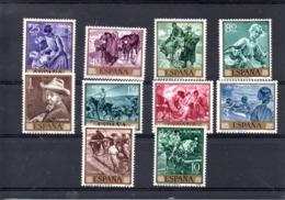 España Nº 1566-75 Sorolla, Serie Completa En Nuevo. - España
