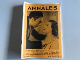 Les ANNALES 25 Fevrier 1935 - Boeken, Tijdschriften, Stripverhalen
