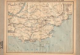 2 Cartes  Télégraphique Téléphonique &des Chemins Fer Dept 83 VAR 82 Tarn Et Garonne Année1936 Collée Recto Verso - Europe