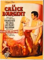 """CINEMA - Affichette Du Film """" LE CALICE D'ARGENT """" Réalisé Par Victor Saville Avec Jack Palance, Paul Newman - 1954 -TBE - Manifesti & Poster"""