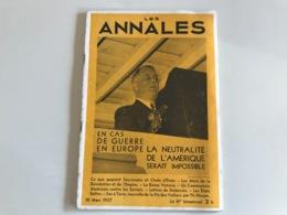 Les ANNALES 10 Mars 1937 - Boeken, Tijdschriften, Stripverhalen