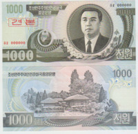 Korea North 1000 Won 2002 Pick 45S UNC 0000000 - Corea Del Nord
