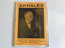 Les ANNALES 15 Octobre 1934 - Boeken, Tijdschriften, Stripverhalen