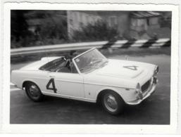 AUTO CAR VOITURE FIAT 1500 SPIDER PININFARINA TARGA TORINO - FOTO ORIGINALE ANNI '60 - Automobiles