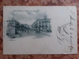 Cartolina Fine Anni '800 Viaggiata + Spese Postali - Sevilla
