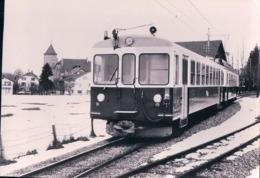 Chemin De Fer, Lausanne Echallens Bercher, Train à Echallens Dans La Neige, LEB 55.907, 10x15 - VD Vaud