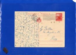##(DAN1910)-17-4-1946-Cartolina Postale Democratica L.3 Da Roma Per Pisa - Storia Postale