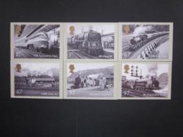 2010 GREAT BRITISH RAILWAYS STAMPS P.H.Q. CARDS UNUSED, ISSUE No. 340 - 1952-.... (Elizabeth II)