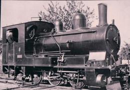 Chemin De Fer, Lausanne Echallens Bercher, Locomotive à Vapeur à Echallens, Photo Retirage, BVA LEB 17.1, 10x15 - VD Vaud