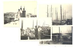 Lot De 7 Photos (+/- 6 X 9 Cm) CANNES 1950.(b264) - Automobiles