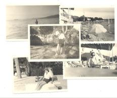 Lot De 5 Photos (+/- 6 X 9 Cm) JUAN LES PINS  1950.(b264) - Automobiles