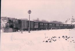 Chemin De Fer, Lausanne Echallens Bercher, Train Chasse-neige à Echallens, Photo 1916 Retirage, BVA LEB 17.0, 10x15 - VD Vaud