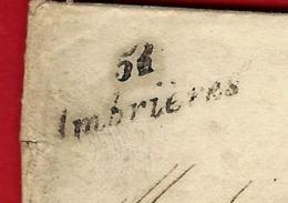 """1843 RARE CURSIVE """"51 Ambrières""""  Pour Les Forges D'Orthe St Martin De Connée  Mayenne  TEXTE   ESSIEUX FERS  ETC. - Poststempel (Briefe)"""