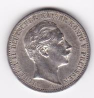 Wal_ Deutsches Reich  Preussen - 3 Mark - 1909  -  Wilhelm II. (f) - [ 2] 1871-1918 : Imperio Alemán