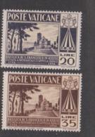 Vatican City S 198-199 1954 San Francesco Di Assisi Basilica, Mint Hinged - Unused Stamps
