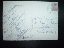 CP TP SEMEUSE 0,20 OBL.23-8 1962 ILE TUDY FINISTERE (29) - Cachets Manuels