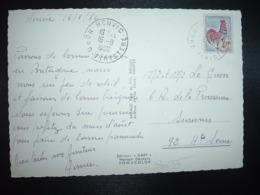 CP TP COQ DE DECARIS 0,25 OBL.16-8 1966 HENVIC NORD FINISTERE (29) - Cachets Manuels