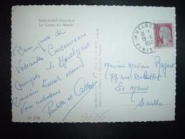 CP TP M.DE DE DECARIS 0,25 OBL.19-6 1962 HUELGOAT FINISTERE (29) - Cachets Manuels
