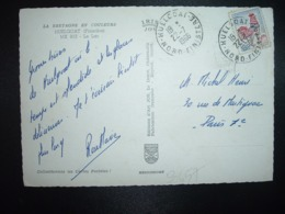 CP TP COQ DE DECARIS 0,25 OBL.22-7 1966 HUELGOAT NORD FINISTERE (29) - Cachets Manuels