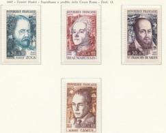 PIA  - FRANCIA  - 1966-67  : Uomini Illustri E Sovrattassa A Favore Della Croce Rossa -  (Yv  1511-14) - Primo Soccorso
