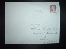 LETTRE  TP M.DE DE DECARIS 0,25 OBL.20-5 1964 HENVIC NORD FINISTERE (29) - Cachets Manuels