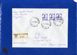 ##(DAN1910)-30-9-1981- Busta Raccomandata Da Borgo A Buggiano Per Città Affrancata Con 3 Castelli Bobina L.200 - 1946-.. République