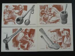 Carte Entier Postal Stationery Card (série De 10 Set Of 10) Alimentation Cuisine Food Cooking Bophuthatswana (ref 86216) - Bophuthatswana
