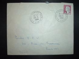 LETTRE  TP M.DE DE DECARIS 0,25 OBL.29-5 1964 HANVEC NORD FINISTERE (29) - Cachets Manuels