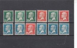 France - 1923-26 - N°Y.T. 170/181** Bon Centrage - Type Pasteur - Francia