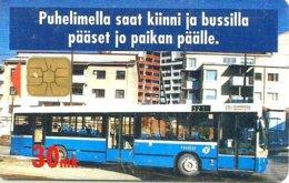 FINLAND 30 MK BUILDINGS BUS TRANSPORT SMALL MINTAGE !! CHIP USED ED10/97 CAT.No E17 READ DESCRIPTION !! - Finnland