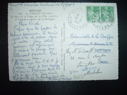 CP TP PAYSANNE 0,10 X2 OBL.18-8 1962 GIULERS FINISTERE (29) - Cachets Manuels