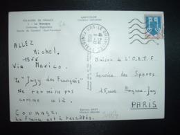 CP TP MONT DE MARSAN 0,25 OBL.MEC. + OBL.11-10 1966 LE GUILVINEC SUD FINISTERE (29) - Cachets Manuels