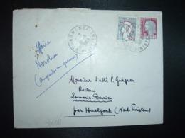 LETTRE TP M.DE DECARIS 0,25 + COCTEAU 0,20 OBL.18-11 1963 DOUARNENEZ FINISTERE (29) - Cachets Manuels