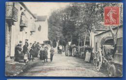 LIGNY     Un Coin Du Boulevard De La Gare     Animées    écrite En 1908 - Sonstige Gemeinden