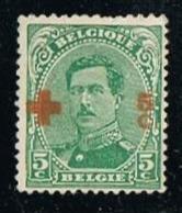 BELGIUM-BELGIQUE OBLITÉRÉ 1918-1920 Y&T N°140 -  King Albert I Croix-Rouge 5c + 5c - 1918 Rotes Kreuz
