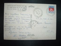 CP TP BLASON PARIS 0,30 OBL.19-8 1966 GUERLESQUIN NORD FINISTERE (29) - Cachets Manuels