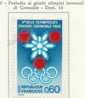 PIA  - FRANCIA  - 1967 : Preludio Ai Giochi Olimpici Invernali Di Grenoble  - (Yv  1520) - Winter 1968: Grenoble