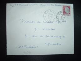 LETTRE TP M. DE DECARIS 0,25 OBL.9-2 1963 GOUESNOU FINISTERE (29) - Cachets Manuels