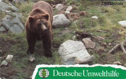 GERMANY - Deutsche Umwelthilfe: Braunbär ,Puzzle 1/2 (Bear), O 0910-05/93 , Tirage 20.000 ,mint - Duitsland