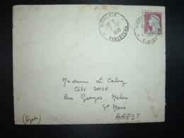 LETTRE TP M.DE DECARIS 0,25 OBL.7-12 1960 MORLAIX FINISTERE (29) - Cachets Manuels