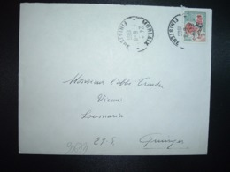 LETTRE TP COQ DECARIS 0,30 OBL.6-11 1966 MORLAIX FINISTERE (29) - Cachets Manuels