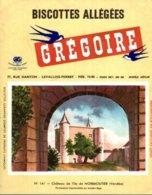 BUVARD  BISCOTTES GREGOIRE  CHATEAU DE L'ILE DE NOIRMOUTIER VENDEE  N° 141 - Food