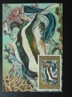 Carte Maximum Card Poisson Fish Artistes En Polynésie 1975 (ref 86375) - Cartes-maximum