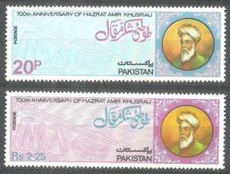 PAKISTAN 1975 - 700TH ANNIVERSARY OF HAZARAT AMIR KHUSRO, Complete Set Of 2v. MNH - Pakistan