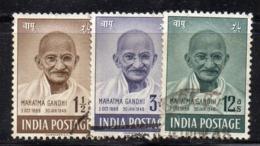 Y959 - INDIA 1948 , Yvert Serietta N. 3-5  Usata  (2380A). Ghandi - Usati