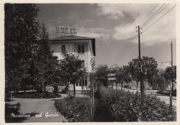 MADERNO-BRESCIA-LAGO DI GARDA-HOTEL PENSIONE=BENACO=CARTOLINA VERA FOTOGRAFIA-VIAGGIATA IL 12-8-1955 - Brescia